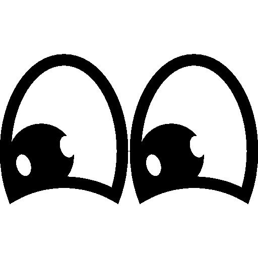 Cartoon happy eyes  free icon