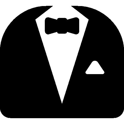 costume et nœud papillon  Icône gratuit