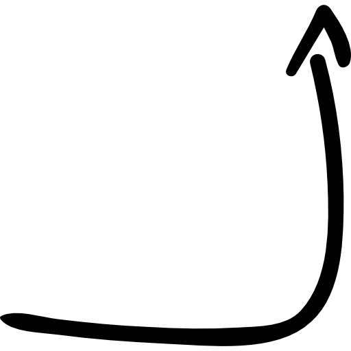 Right up arrow  free icon