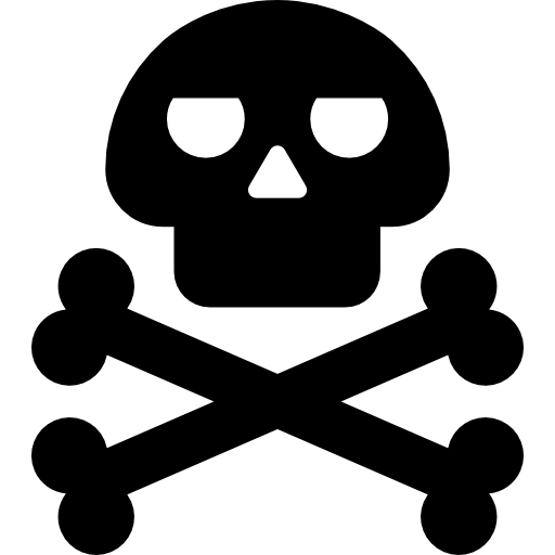Risk of death  free icon