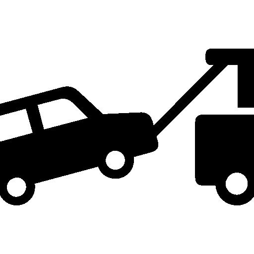 Towed car  free icon