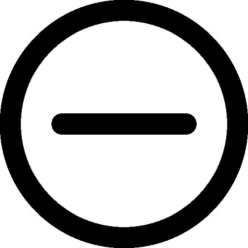 Minus  free icon