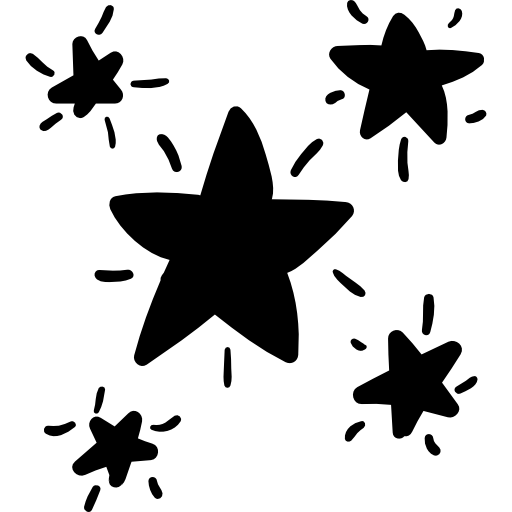 Starry doodle  free icon
