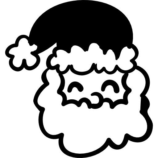 Smiling Santa Claus with hat  free icon