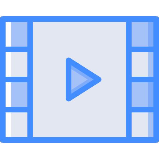 reproductor de video  icono gratis