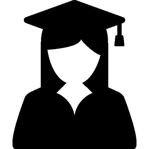 Female graduate student  free icon