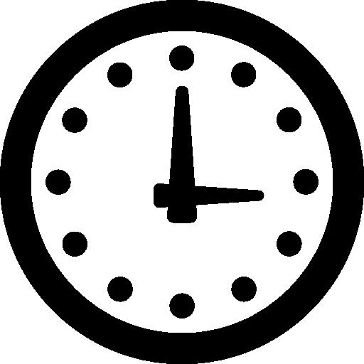 reloj de pared  icono gratis