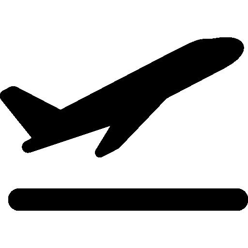 Takeoff the plane  free icon