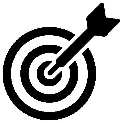 Dartboard and Dart  free icon