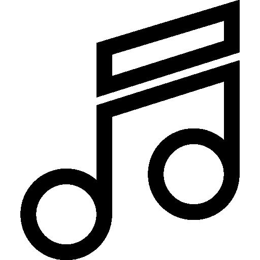 Music Note Quaver  free icon