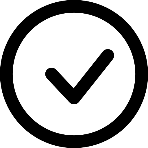 Check Mark In a Circle  free icon