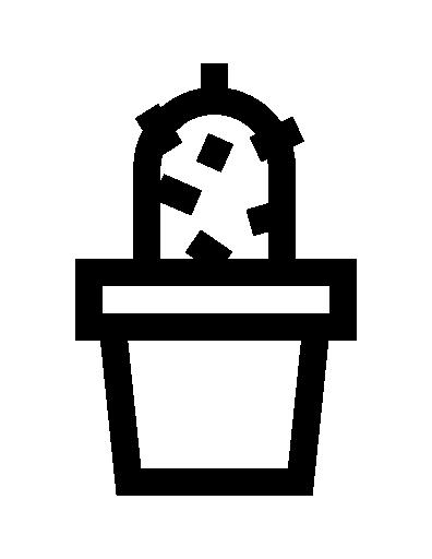 cactus dans un pot  Icône gratuit