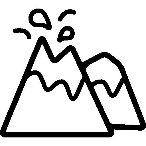 분출하는 화산  무료 아이콘