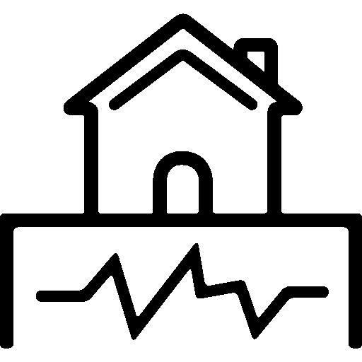 Earthquake and Home  free icon