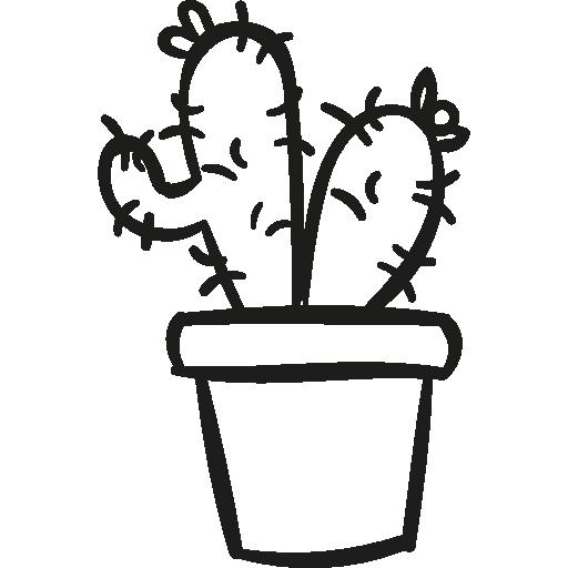 deux cactus dans un pot  Icône gratuit