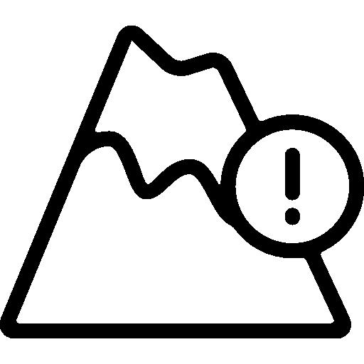 화산 경고  무료 아이콘
