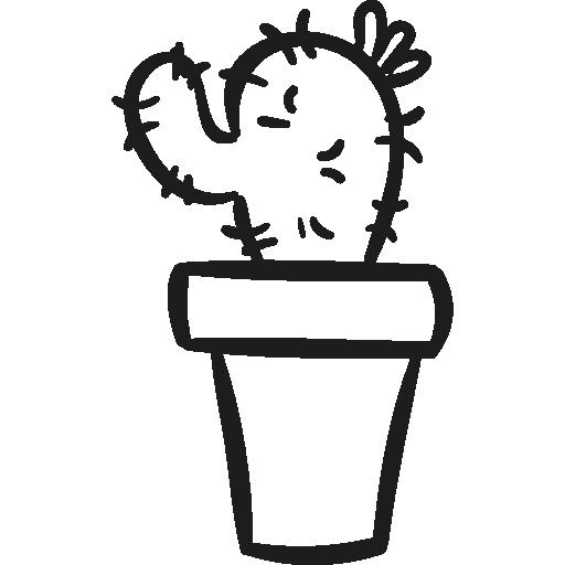 garten kaktus in einem topf  kostenlos Icon