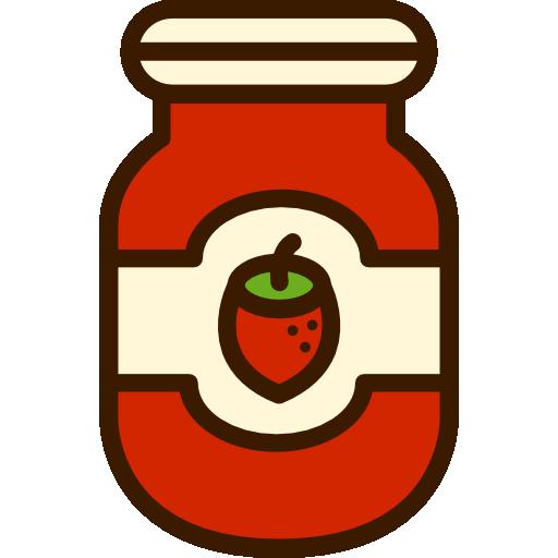 confiture de fraise  Icône gratuit