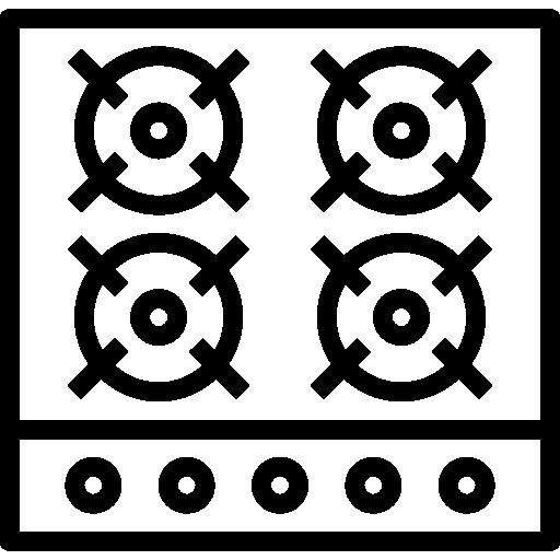 Stove  free icon