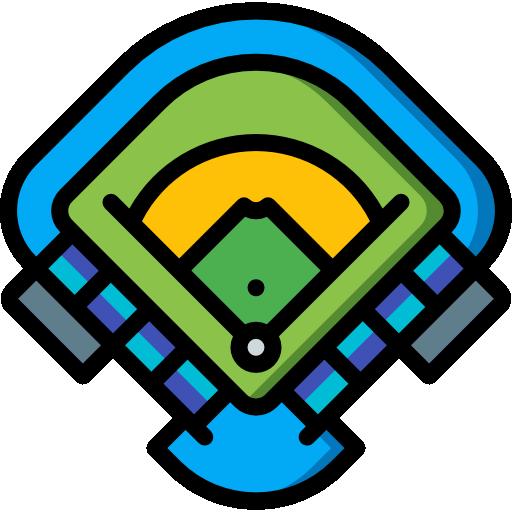 campo de béisbol  icono gratis