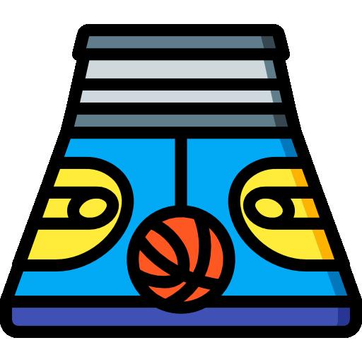 cancha de baloncesto  icono gratis