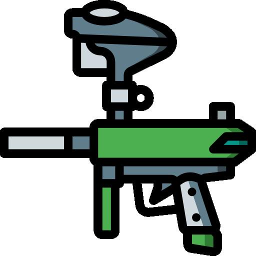 pistola de paintball  icono gratis
