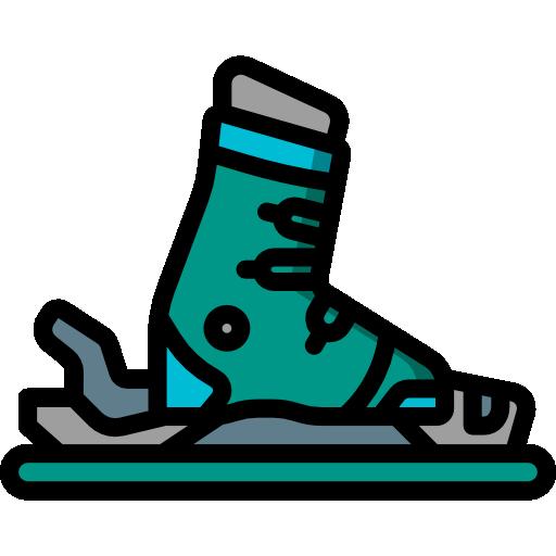 botas de esqui  icono gratis