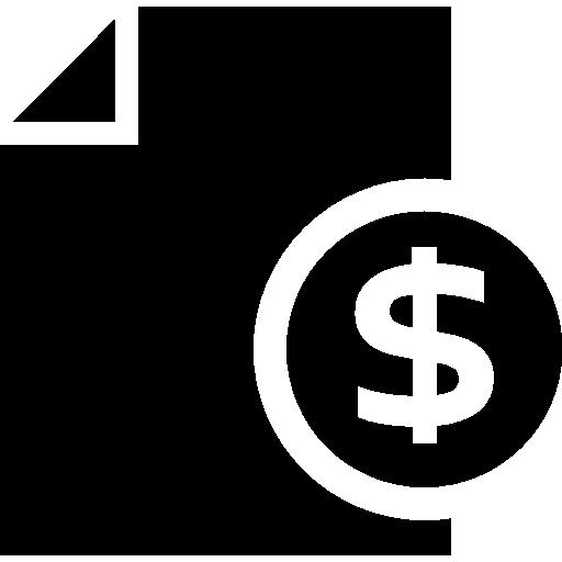 informe de dinero  icono gratis