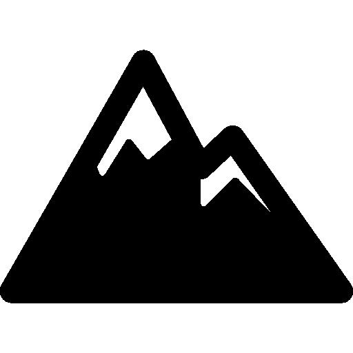 Snowed mountains  free icon