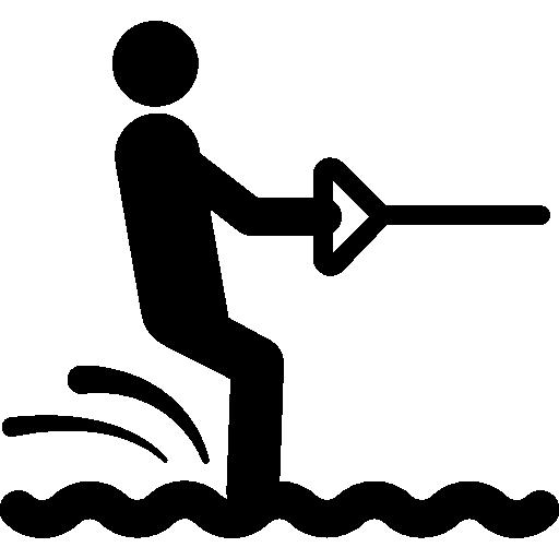 esquí acuático  icono gratis