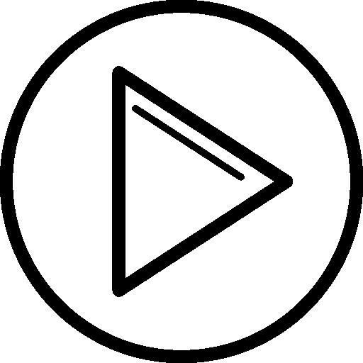 Play round button  free icon