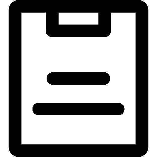 bloco de anotações  grátis ícone