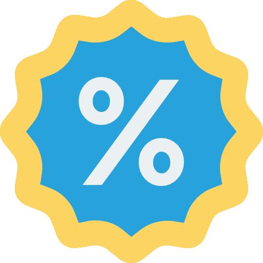 Discount  free icon