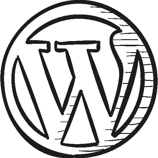 Wordpress Draw Logo  free icon