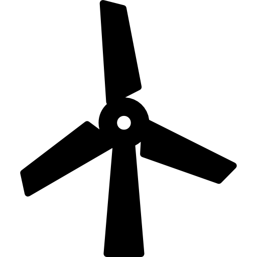 Modern wind mill  free icon