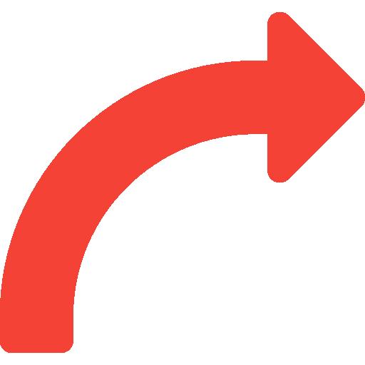 flèche courbe  Icône gratuit