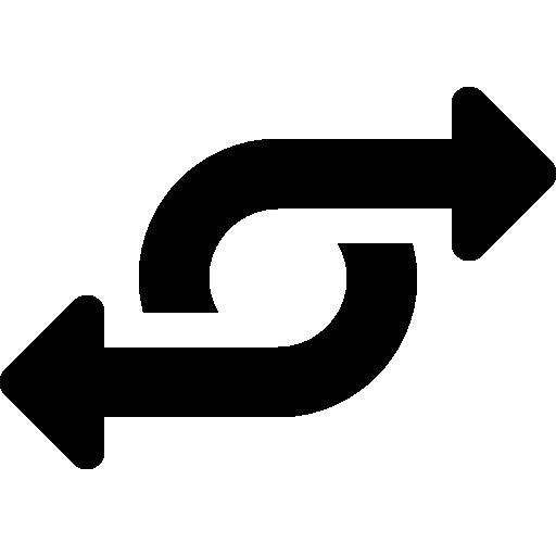 flèche tournante  Icône gratuit