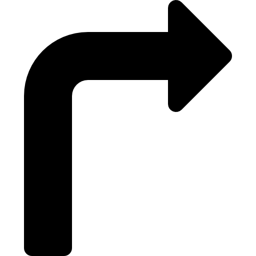 Turn right  free icon