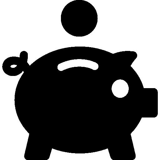 Копилка и монета  бесплатно иконка