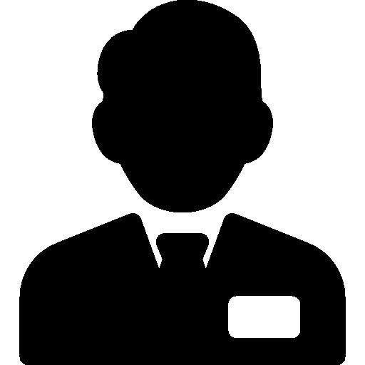 Клерк с галстуком  бесплатно иконка
