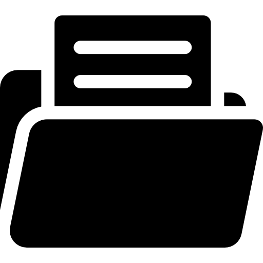 Open folder with document  free icon
