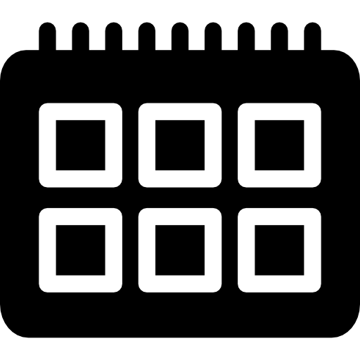 Календарь с квадратами  бесплатно иконка