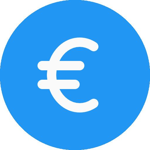 Euro  free icon