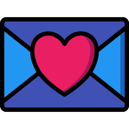 carta de amor  icono gratis