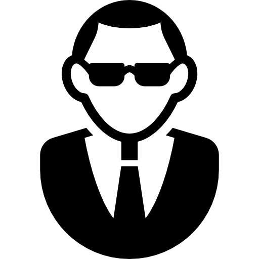 Man with Sunglasses and Suit  free icon