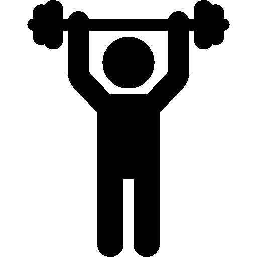 Man Lifting Weight  free icon