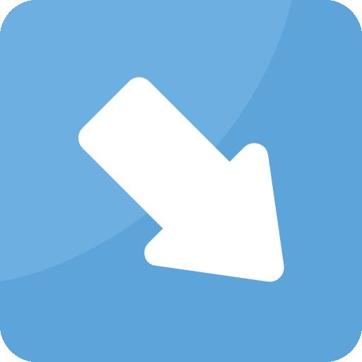 Diagonal arrow  free icon