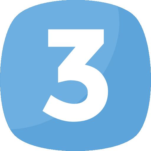 tres  icono gratis