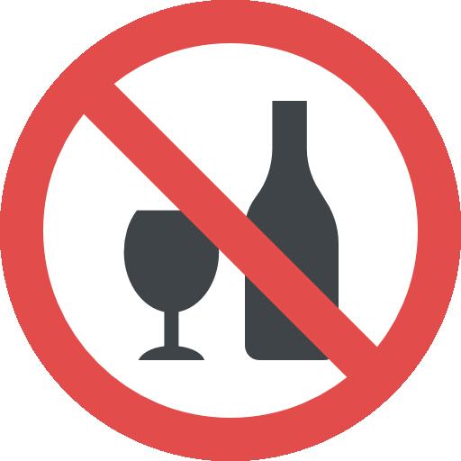 No alcohol  free icon
