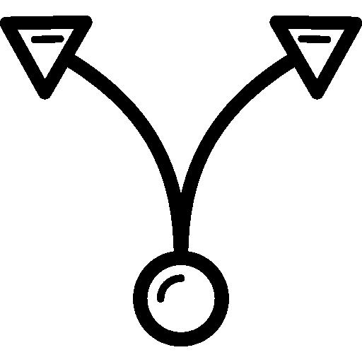 deux flèches courbes du cercle  Icône gratuit